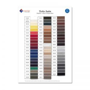 Colour Chart - Terko Thread Range