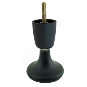 Trumpet/Mushroom Leg Glide 100mm (5/16 Screw) BLACK