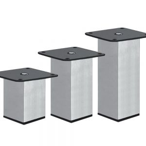 London 60-120mm Brushed Aluminium Metal Leg