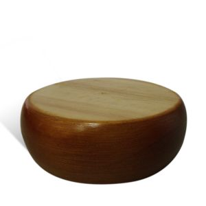 Large Bun Foot 45mm Polished Timber Leg