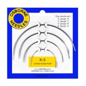 OSBORNE K-3 Curved Round Point Needle Card